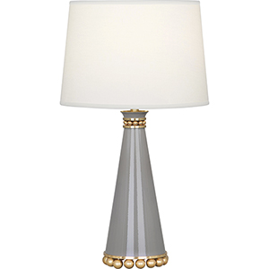 Pearl Smoky Taupe Lacquered Paint and Modern Brass Accents 20-Inch One-Light Table Lamp