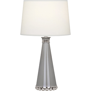 Pearl Smoky Taupe Lacquered Paint and Polished Nickel Accents 20-Inch One-Light Table Lamp