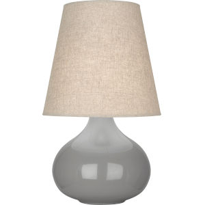 June Smoky Taupe Glazed Ceramic One-Light Accent Lamp