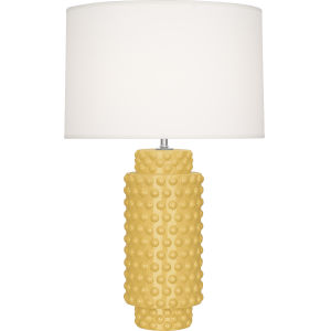 Dolly Sunset Yellow Glazed Textured Ceramic One-Light Table Lamp