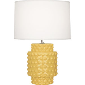 Dolly Sunset Yellow Glazed Textured Ceramic One-Light Accent Lamp