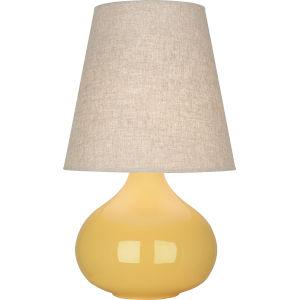 June Sunset Yellow Glazed Ceramic One-Light Accent Lamp