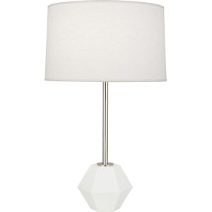 Marcel Polished Nickel One-Light Table Lamp With Oyster Linen