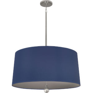 Williamsburg Custis Polished Nickel Three-Light Pendant