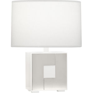 Blox Polished Nickel One-Light Table Lamp