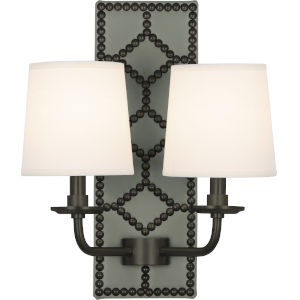 Williamsburg Lightfoot Deep Patina Bronze Two-Light Wall Sconce