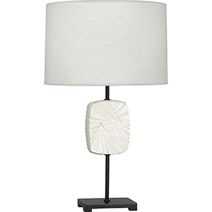 Michael Berman Alberto Deep Patina Bronze with Flat Lily Accent 27-Inch One-Light Table Lamp