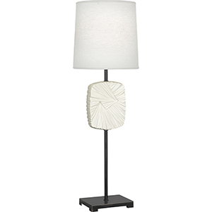 Michael Berman Alberto Deep Patina Bronze with Flat Lily Accent 32-Inch One-Light Table Lamp
