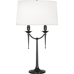 Cedric Deep Patina Bronze 30-Inch Two-Light Table Lamp
