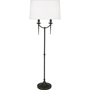Cedric Deep Patina Bronze 58-Inch Two-Light Floor Lamp