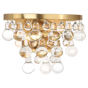 Bling Antique Brass Two-Light Sconce