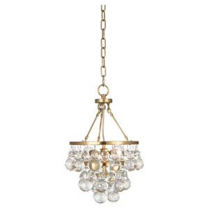 Bling Antique Brass Two-Light Mini Chandelier