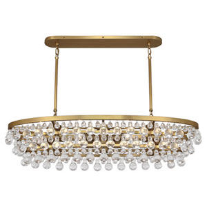 Bling Antique Brass Eight-Light Chandelier