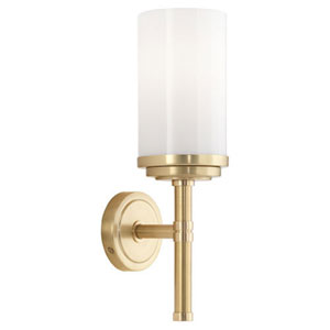 Halo Brushed Brass And Natural Brass One-Light Bath Sconce