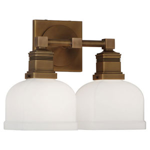 Taylor Aged Brass Two-Light Vanity