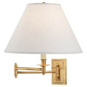 Kinetic Antique Brass One-Light Sconce