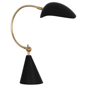 Rico Espinet Racer Brass and Matte Black One-Light Desk Lamp