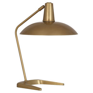 Enterprise Antique Brass One-Light Desk Lamp