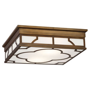 Addison Weathered Brass Two-Light Flush Mount