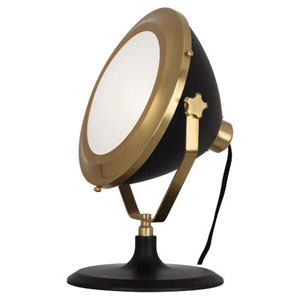 Apollo Antique Brass and Black Paint One-Light Table Lamp