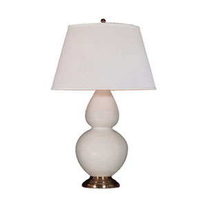 Double Gourd Lily and Antique Brass One-Light Table Lamp