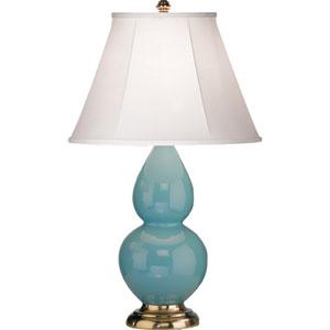 Small Double Gourd Egg Blue One-Light Ceramic Table Lamp