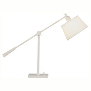 Real Simple Winter White Powder One-Light Desk Lamp