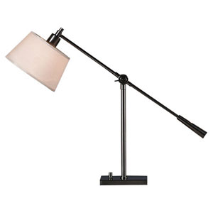 Real Simple Gunmetal Powder One-Light Desk Lamp