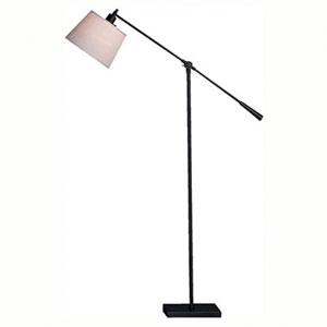 Real Simple Matte Black Powder One-Light Floor Lamp