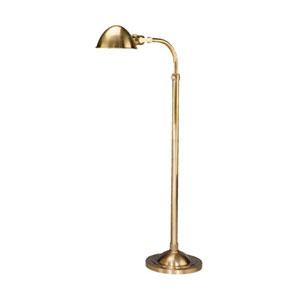Alvin Natural Brass One-Light Floor Lamp