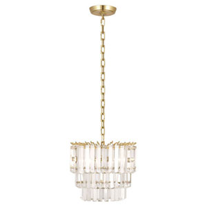 Spectrum Brass Two-Light Mini Chandelier