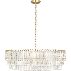 Spectrum Modern Brass Six-Light Chandelier