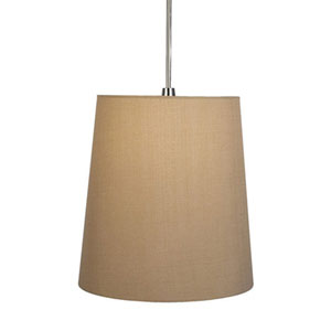 Rico Espinet Buster Polished Nickel One-Light Drum Pendant with Taupe Shade