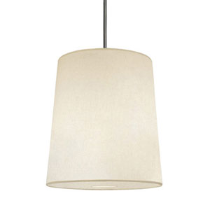 Rico Espinet Buster Polished Nickel One-Light Drum Pendant with Fondine Shade