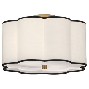 Axis Aged Brass Two-Light Flush Mount