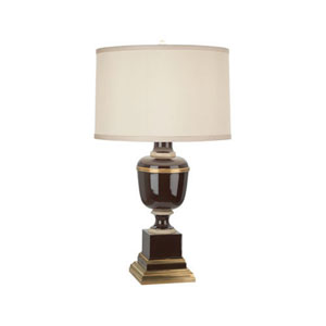 Mary McDonald Annika Brown, Ivory and Brass One-Light Table Lamp