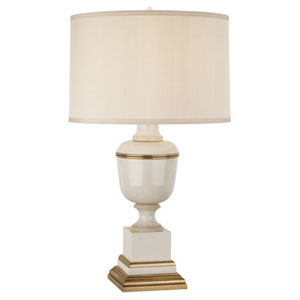 Mary McDonald Annika Ivory and Brass One-Light Table Lamp
