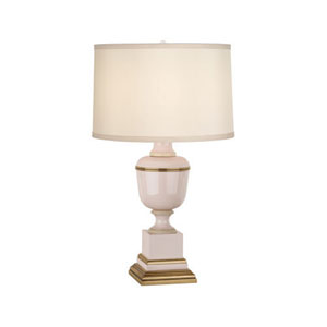 Mary McDonald Annika Blush and Brass One-Light Table Lamp