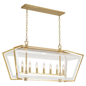 Casper Polished Brass Seven-Light Chandelier