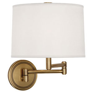 Sofia Antique Brass One-Light Swing Arm Sconce