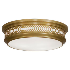 Williamsburg Tucker Antique Brass Three-Light Flush Mount