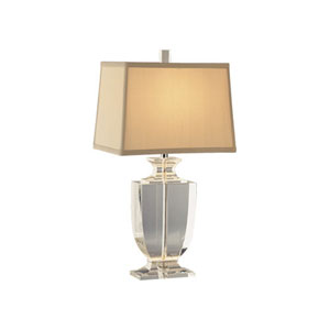 Artemis Silver Plate and Clear Crystal One-Light Table Lamp