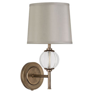 Latitude Aged Brass and Clear Glass One-Light Sconce