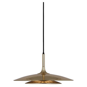 Axiom Polished Gold Three-Light Pendant