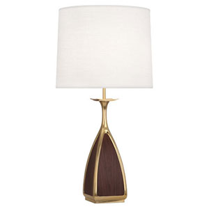Trigger Antique Brass and Walnut One-Light Table Lamp