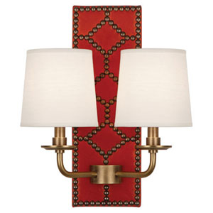 Williamsburg Lightfoot Aged Brass Two-Light Sconce