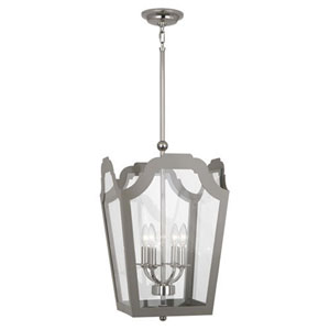 Williamsburg Tayloe Smokey Taupe and Nickel 15.5-Inch Four-Light Pendant
