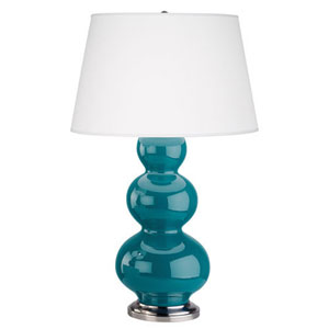 Triple Gourd Peacock One-Light Table Lamp