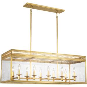 Williamsburg Tucker Antique Brass 10-Light Chandelier
