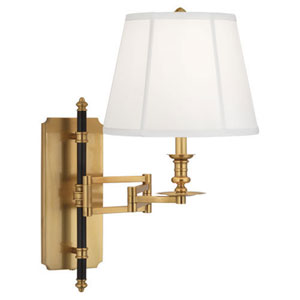 Williamsburg Lewis Brass and Deep Patina Bronze One-Light Sconce